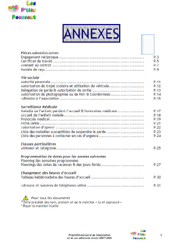 Les P'tits Poussent: Le contrat de travail de l'association et ses